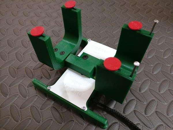 portachiavi medidor verde centro de gravedad