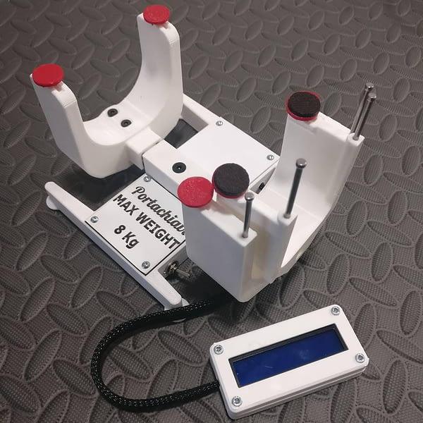 portachiavi brazos de soporte tamaño medio con medidor de deflexiones
