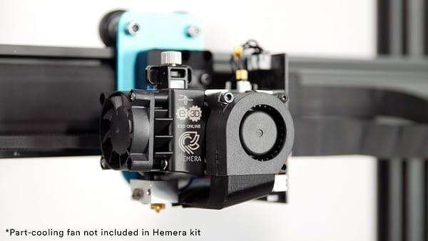 portachiavi extrusor Hemera 12V montado